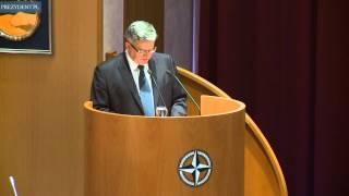 Wykład prezydenta w Akademii Obrony NATO w Rzymie