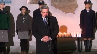 Prezydent zapalił świecę pamięci przed aresztem na Białołęce
