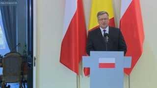 Prezydent Rumunii z wizytą w Polsce