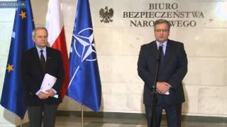 Wypowiedź Prezydenta Bronisława Komorowskiego  po naradzie ws. bezpieczeństwa antyterrorystycznego