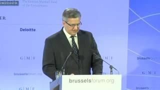Wystąpienie Prezydenta RP Bronisława Komorowskiego na Brussels Forum