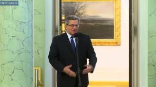 Otwarcie Galerii Malarstwa Polskiego w Pałacu Prezydenckim