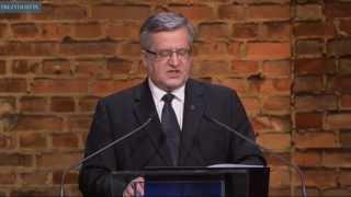 Wystąpienie prezydenta na uroczystości w 70. rocznicę wyzwolenia KL Auschwitz-Birkenau