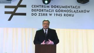 Otwarcie Centrum Dokumentacji Deportacji Górnoślązaków do ZSRR w 1945 r.