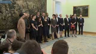 Spotkanie Pary Prezydenckiej ze zdobywcami Oscara