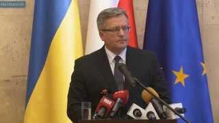 Prezydent w Kijowie na obchodach 1. rocznicy Majdanu