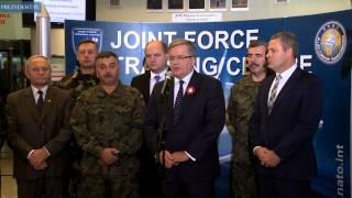 Prezydent w Centrum Szkolenia Sił Połączonych NATO