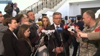 Prezydent na wystąpieniu szefa MSZ w Sejmie